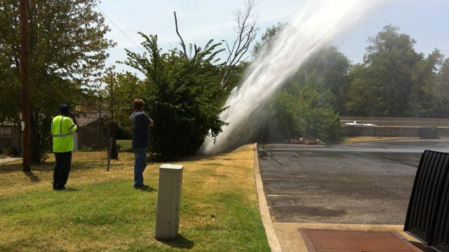 WEB EXTRA: Video Shot By Dustin Stone Of Broken Water Main