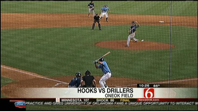 Drillers Shut Out Hooks 6-0