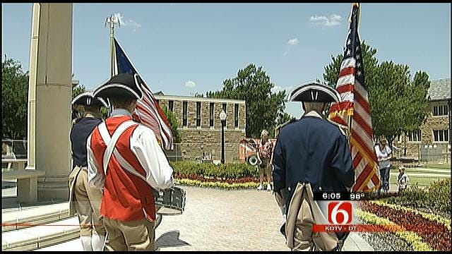 Sons Of The American Revolution Ring Bell At TU To Commemorate July 4
