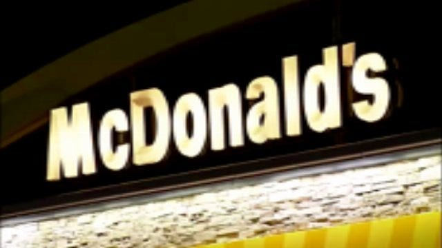 WEB EXTRA: Video From East Tulsa McDonalds' Robbery Early Monday