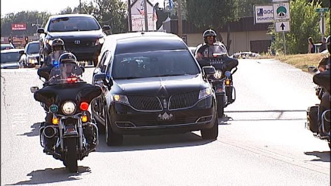 Honor Procession, Funeral Service Held For Fallen Jenks Police Officer
