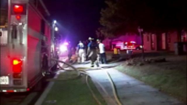 WEB EXTRA: Video From Scene Of North Tulsa House Fire