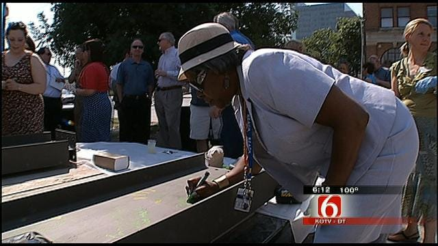 Artists, Donors Celebrate Topping Out Of New Downtown Arts Center
