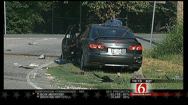 Tulsa Police: Woman Dead, Teen Critical After Car Broadsides Their Minivan