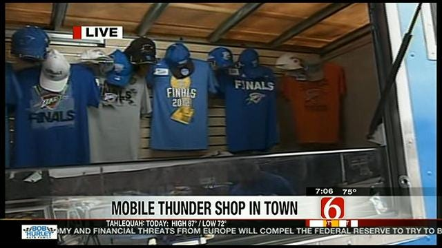 Oklahoma City Thunder Truck Visits Tulsa and Bixby Tuesday