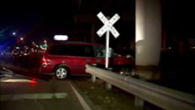 WEB EXTRA: Video Of Scene Of Van Train Crash In West Tulsa