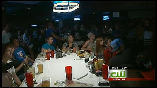 Tulsa NBA Watch Party Turns Green Country Thunder Blue