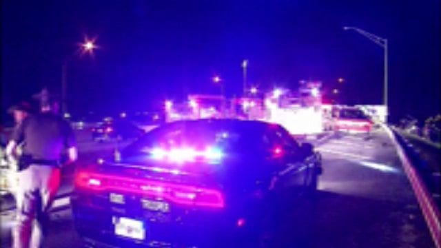 WEB EXTRA: Video From Scene Of Fatal Crash On I-244 In Tulsa