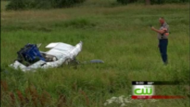 UPDATE: Checotah Pilot Killed When Small Plane Nose-Dives Into Field
