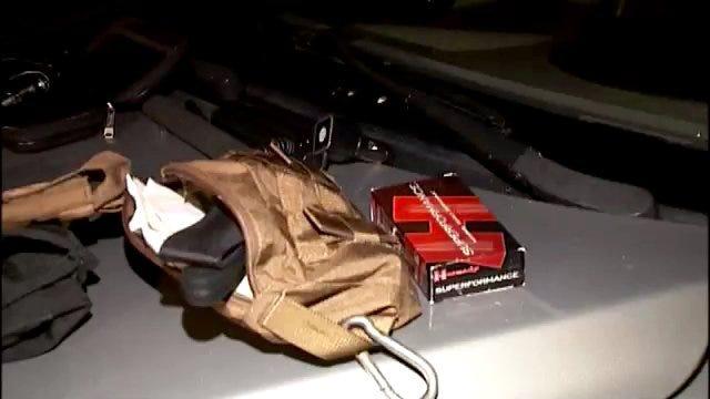 WEB EXTRA: Video From Scene Of Burglary From Tulsa Police Vehicle