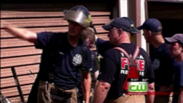 Tulsa Fire Cadets Soak Up Training While Fighting Flames