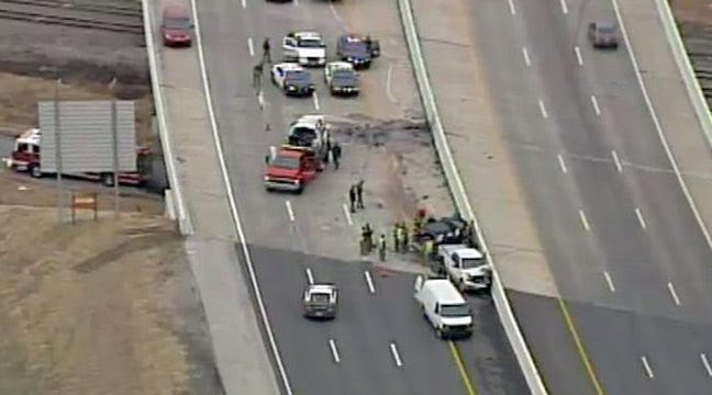WEB EXTRA: SkyNews 6 Flies Over Double Fatality Wreck