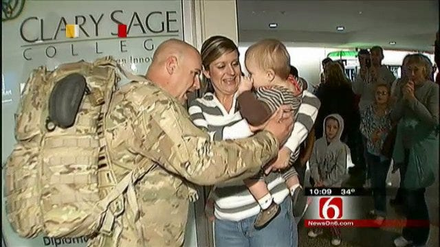 Six Soldiers From 45th Infantry Brigade Back In Oklahoma