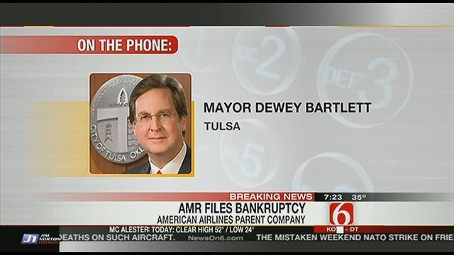 Tulsa Mayor Dewey Bartlett Reacts To AMR Bankruptcy Announcement