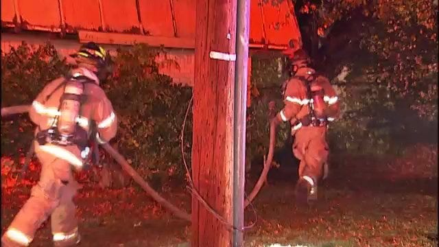 WEB EXTRA: Video From Avocado Apartment Complex Fire Late Sunday