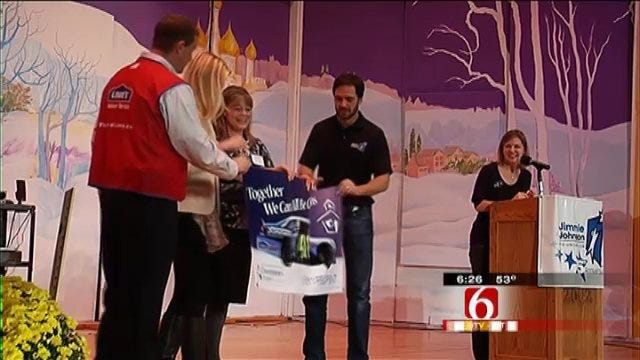 NASCAR Star Jimmie Johnson And Wife Donate To Muskogee Schools