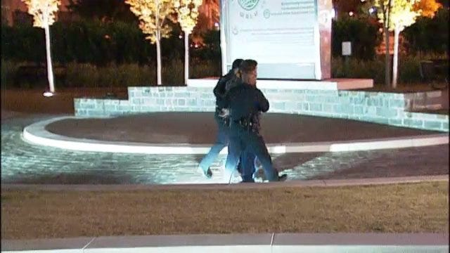 WEB EXTRA: Video From Scene Of Occupy Tulsa Arrests Thursday Night