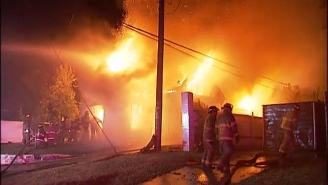WEB EXTRA: Video From Scene Of West Tecumseh House Fire