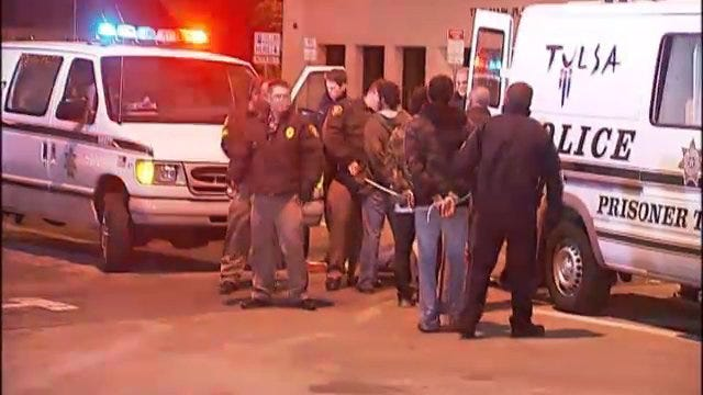 WEB EXTRA: Video From Scene Of Second Night Of Occupy Tulsa Arrests