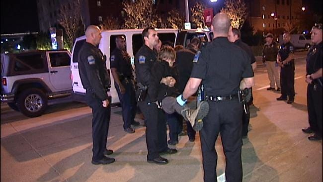WEB EXTRA: Video From Scene Of Occupy Tulsa Arrests Early Wednesday