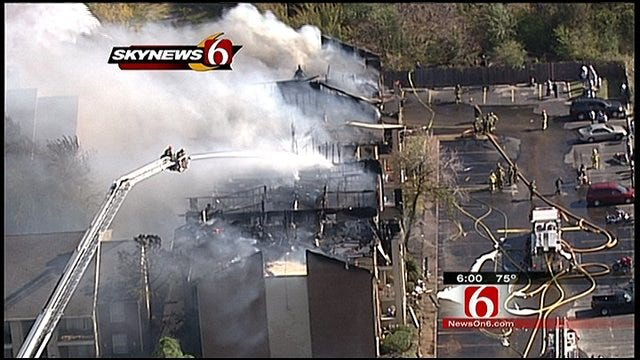 Tulsa Apartment Fire Destroys Building, Displaces More Than 100 People