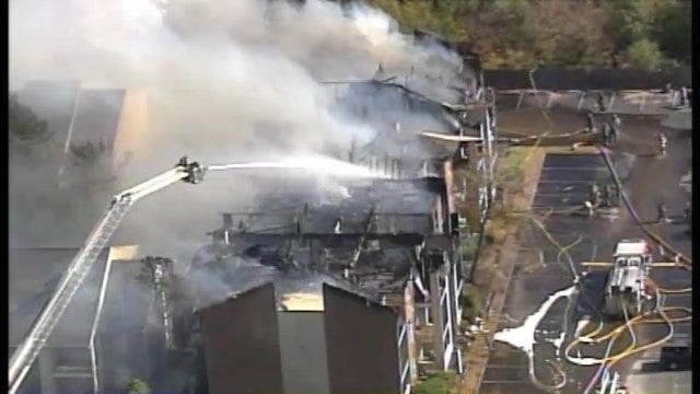 WEB EXTRA: SkyNews6 Aerials From Tulsa Apartment Complex Fire