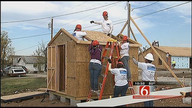 Oklahoma Volunteers Help Build New Homes For Joplin Tornado Victims