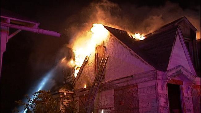 WEB EXTRA: Tulsa Firefighters Battle Arson