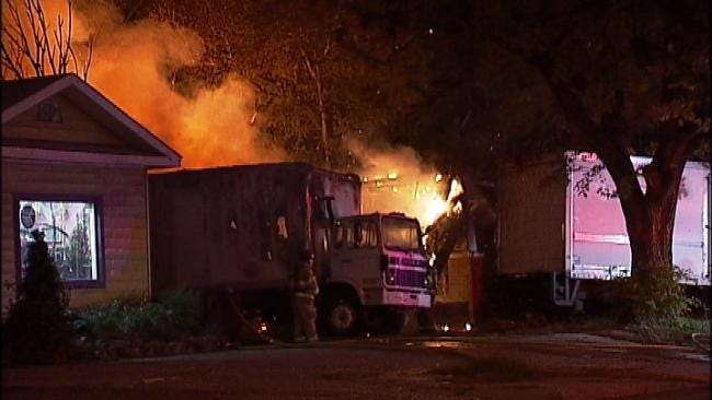 WEB EXTRA: Video From Scene Of 12th And Peoria House Fire