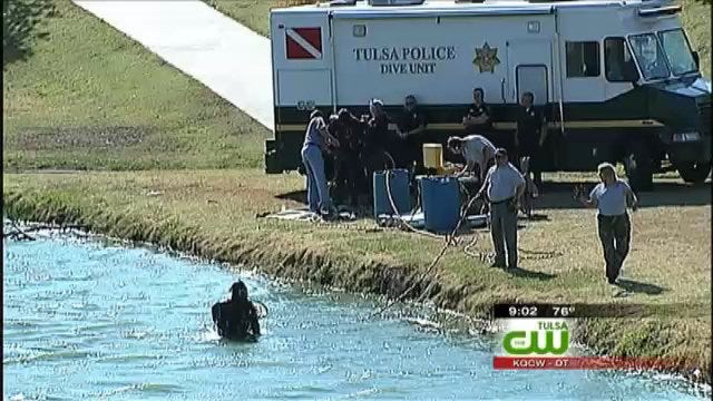 Dive Team Scours Tulsa Pond After Human Foot Found