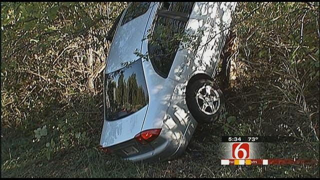 Car Leaves Interstate 44, Lands In Tulsa Tree