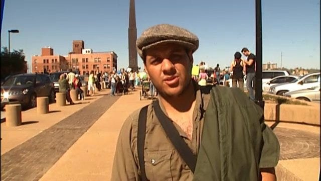 WEB EXTRA: Two Occupy Tulsa Protesters Talk About Why They Attended The March