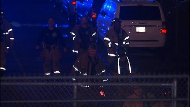 WEB EXTRA: Scene Of Detonated Device Near Tulsa Airport