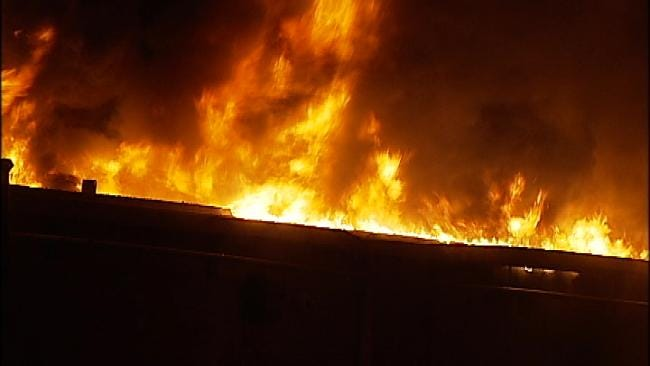 WEB EXTRA: Video From Scene Of PikePass Customer Service Fire In OKC