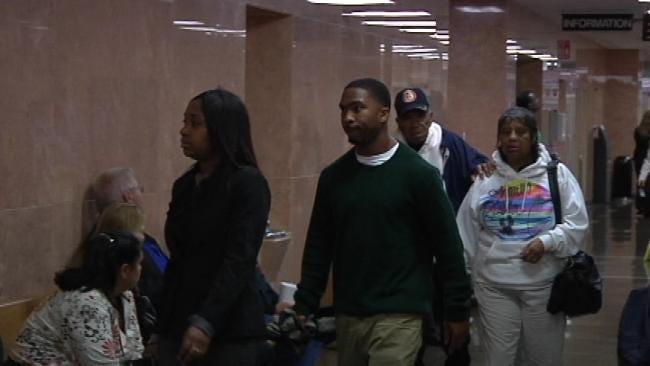 WEB EXTRA: Video Of Chamon Jones And Damaris Johnson At Tulsa Courthouse