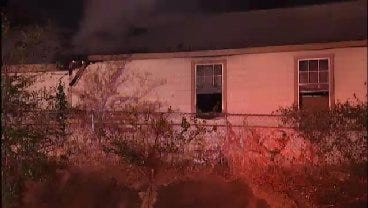 WEB EXTRA: Video From Scene Of East Tulsa House Fire