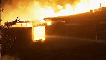 WEB EXTRA: Video From Scene Of East 15th Street Tulsa House Fire