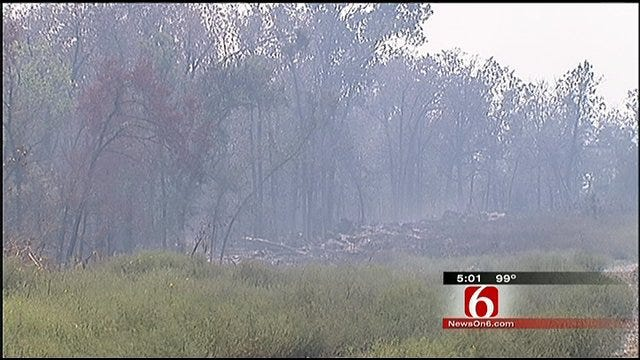Fire Contained, But Smoke Still Hangs Over Green Country