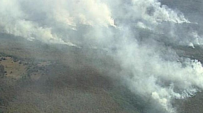 SKYNEWS6 Flies Over Camp Gruber Wildfire