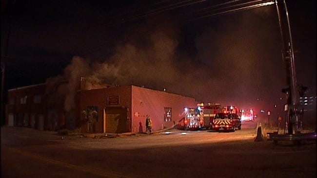 WEB EXTRA: Video From Scene Of North Tulsa Building Fire