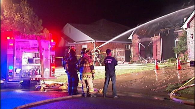 WEB EXTRA: Video From Scene Of Broken Arrow House Fire