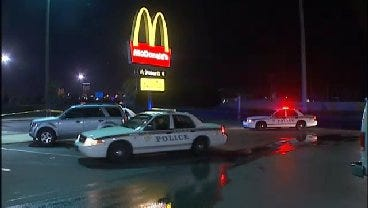 WEB EXTRA: Video From The Scene Of a Shooting At North Tulsa McDonalds