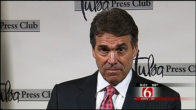 Republican Presidential Candidate Rick Perry Makes Tulsa Stop