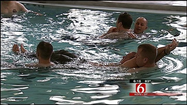 Broken Arrow Police Officers Learn Water Rescue Techniques