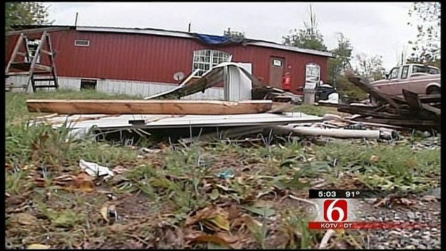 Storms Topple Trees In Wagoner County