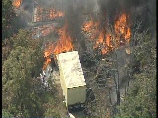 WEB EXTRA: SkyNews6 Flies Over Terlton Wildfire