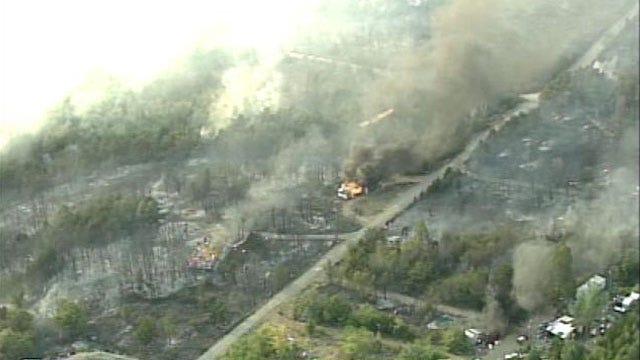 WEB EXTRA: SkyNews6 Flies Over Pawnee County Wildfire