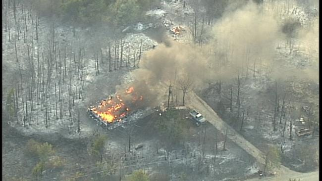 WEB EXTRA: More Aerial Coverage Of Pawnee County Fire