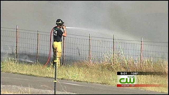 Grass Fires Rage Across Green Country, Burn Structures, Threaten Homes