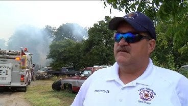 WEB EXTRA: Sapulpa Fire Chief Danny Whitehouse Talks About Mobile Home Fire